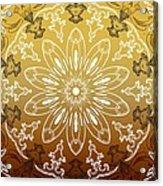 Coffee Flowers 11 Calypso Ornate Medallion Acrylic Print