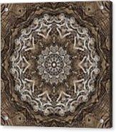 Coffee Flowers 6 Ornate Medallion Acrylic Print