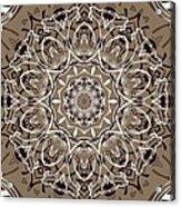 Coffee Flowers 7 Ornate Medallion Acrylic Print