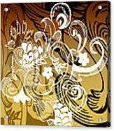 Coffee Flowers 8 Calypso Acrylic Print