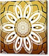 Coffee Flowers Medallion Calypso Triptych 2  Acrylic Print