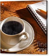 Coffee For The Writer Acrylic Print