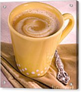 Coffee In Yellow Cup Acrylic Print