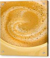Coffee In Yellow Acrylic Print