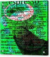 Coffee Lovers Diary 5d24472p108 Acrylic Print