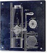 Coffee Mill Patent 1893 Blue Acrylic Print