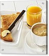 Coffee Toast Orange Juice Acrylic Print by Colin and Linda McKie
