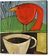 coffee with red bird II Acrylic Print