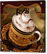 Coffee With Whipped Topping And Chocolates Acrylic Print