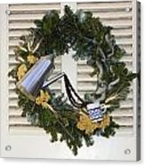 Coffee Wreath Acrylic Print