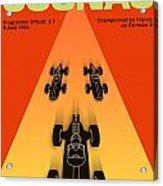 Cognac France F3 Grand Prix 1964 Acrylic Print