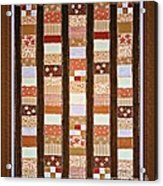 Coin Quilt -  Painting - Brown And White Patches Acrylic Print