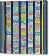 Coin Quilt -  Painting - Multicolors - Borders Acrylic Print