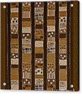 Coin Quilt - Painting - Sepia Patches Acrylic Print