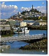 Coit Tower And Marina - San Francisco Acrylic Print