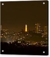 Coit Tower In The Giant's Team Color Acrylic Print