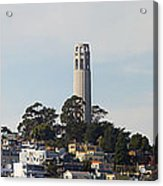 Coit Tower On Telegraph Hill Panorama Acrylic Print