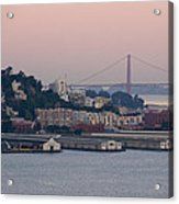 Coit Tower Sits Prominently On Top Of Telegraph Hill In San Francisco Acrylic Print
