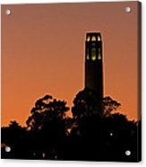 Coit Tower Sunset Acrylic Print