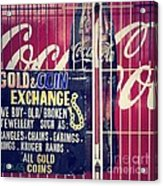 Coke And Gold Acrylic Print