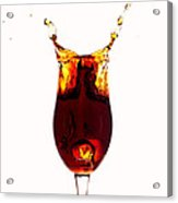 Coke Splashing In The Cup Liquid Art Acrylic Print by Paul Ge
