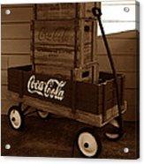 Coke Wagon Acrylic Print