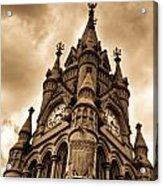 Colck Tower Stratford On Avon Sepia Acrylic Print
