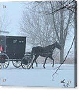 Cold Amish Morning Acrylic Print