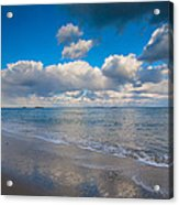 Cold And Windy Beach Day Acrylic Print