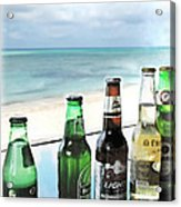 Cold Beers In Paradise Acrylic Print by Joan  Minchak