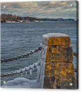 Cold Day On Superior Acrylic Print