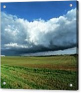 Cold Front Storm Clouds Over Fields Acrylic Print