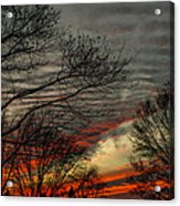 Cold Front Sunset Acrylic Print