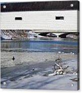Cold January Morning At The Bridge Acrylic Print