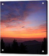 Cold Mountain At Sunrise Acrylic Print
