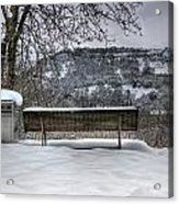 Cold Seat With A View 2 Acrylic Print