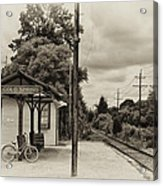 Cold Spring Train Station In Sepia Acrylic Print