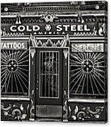 Cold Steel Bw Acrylic Print