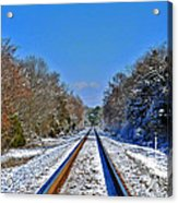 Cold Tracks Acrylic Print