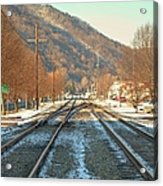 Cold Tracks Through Montgomery Acrylic Print