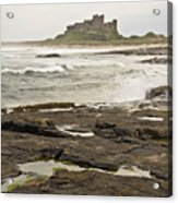Cold Waves Of Northumberland Acrylic Print