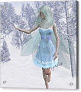Cold Winter Fairy Acrylic Print