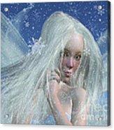 Cold Winter Fairy Portrait Acrylic Print