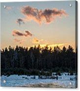 Cold Winter Sunset Acrylic Print