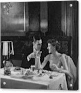 Colin Clive And Rose Hobart At Waldorf Acrylic Print