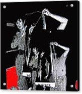 Collage Body Talk Poster Prize Jello Wrestling Contest Gay Bar Tucson Arizona 1992 Acrylic Print
