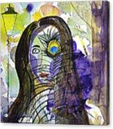 Collage Girl Acrylic Print