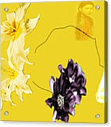 Collage In Yellow Acrylic Print