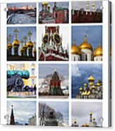 Collage Moscow Kremlin 1 - Featured 3 Acrylic Print