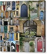 Collage Of Doors Acrylic Print